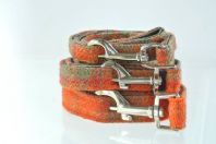 Orange Harris Tweed Dog Leash